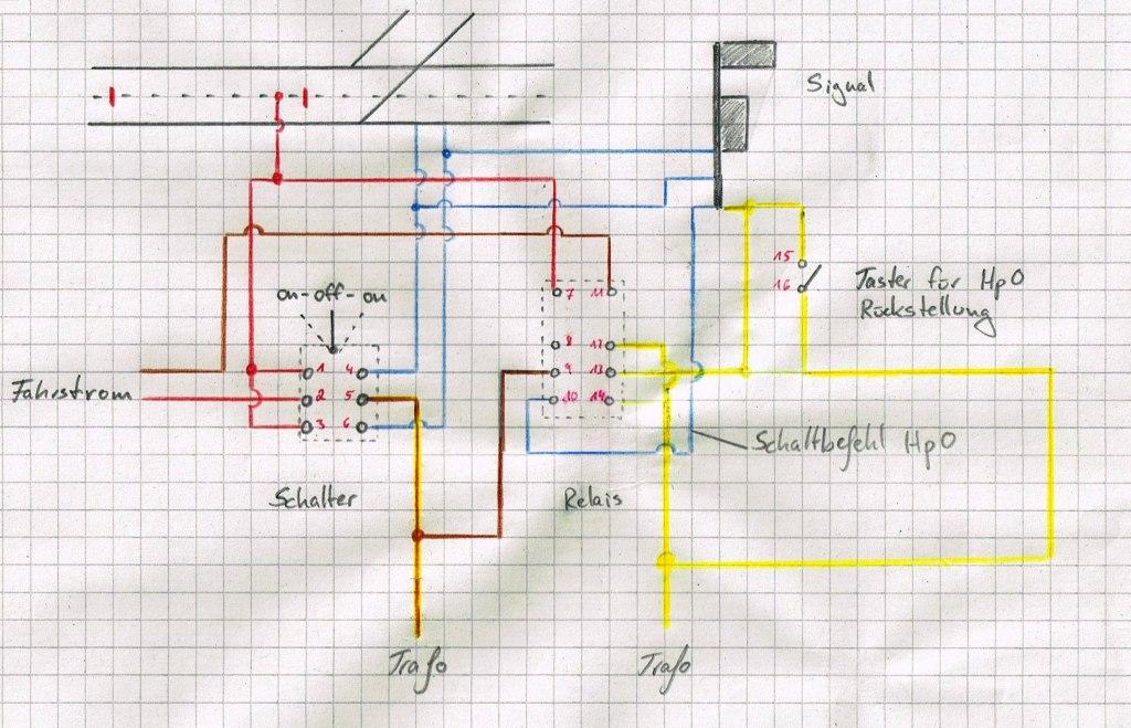 Märklin Formsignal (alt) in Relaisschaltung - Stummis Modellbahnforum