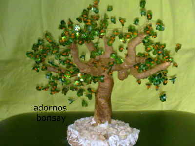 MANUALIDADES CON ABALORIOS..arboles ,flores y mas.... - ARBOLES BONSAI ...