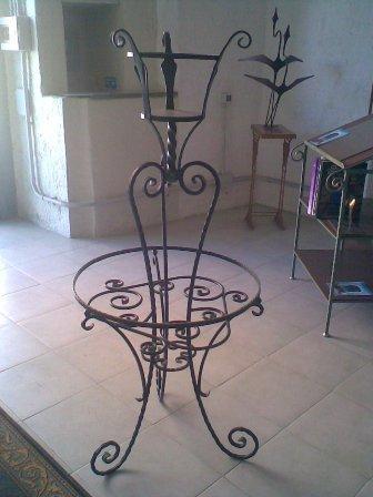 Galleria - Porta vasi in ferro battuto ...