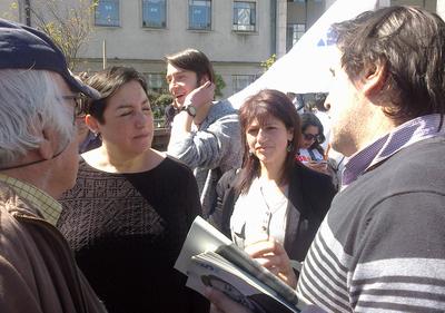 Chile: Beatriz Sanchez. Candidata Presidencial  del frente Amplio visita la ciudad de Concepción.
