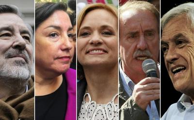 Chile: Presidenciales 2017, con ocho  candidatos  que competirán en noviembre.