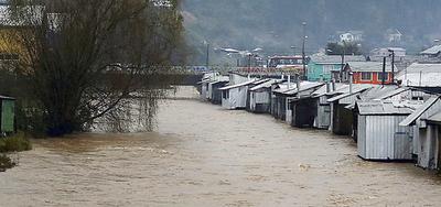 Chile: Inundaciones en Curanilahue.