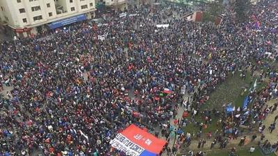 Chile:  Todo el país del Sur…  Marcho hoy en contra del sistema  de  AFP existente.
