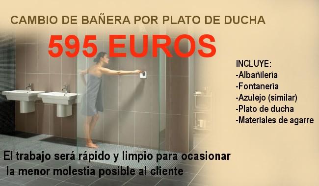 Mamparas Para Ducha Zona Norte:EL CAMBIO DE TU BAÑERA POR UN PLATO DE DUCHA 595 EUROS