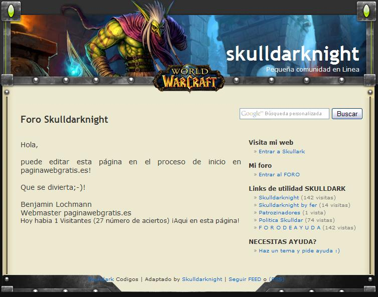 [P L A N T I L L A C S S - PWG] NUEVA -WORLD CRAFT- Warcraft