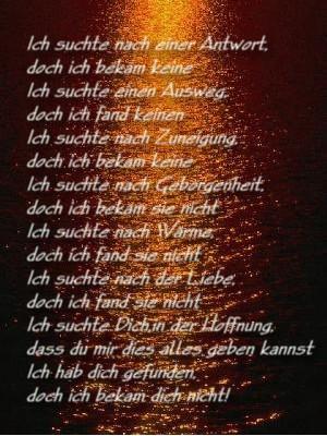 Gedicht kennenlernen liebe