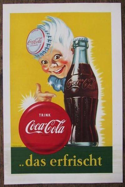 Alte Reklame Norbert Sethmann Coca Cola