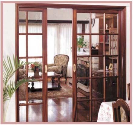 Aprenda a decorar puertas for Puertas de madera con vidrio para interior