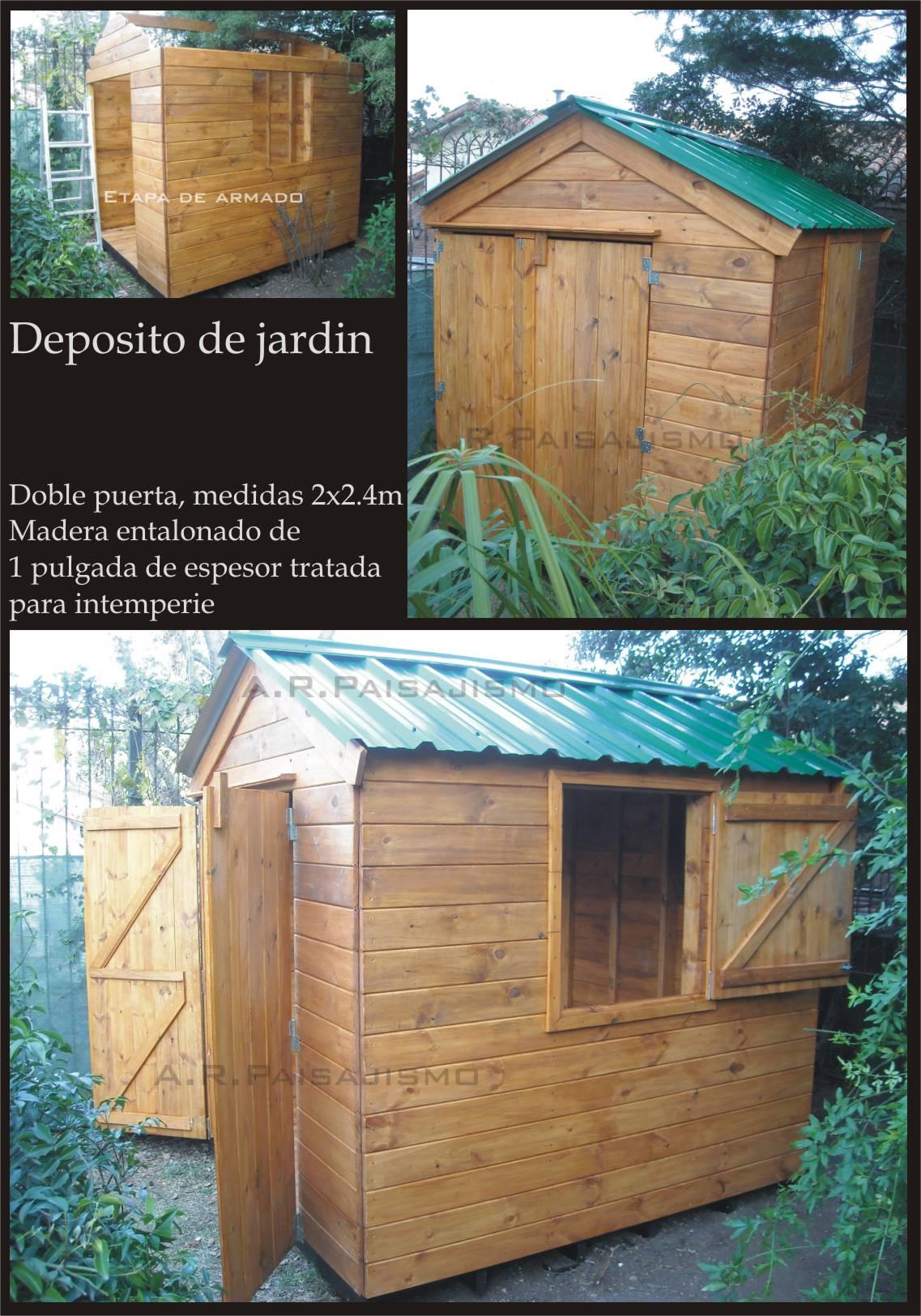 Cobertizo deposito de madera casilla guarda herramientas for Guarda herramientas para jardin