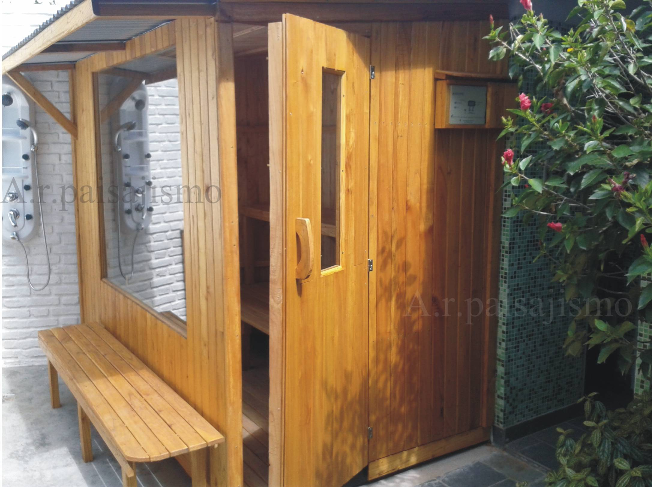 Box ba o de vapor o sauna turco madera externo spa - Madera para sauna ...