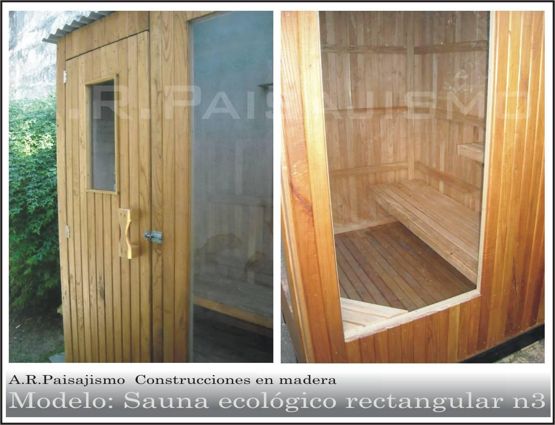 Ba o sauna seco madera artesanal para intemperie o interno otros a ars 7500 en preciolandia - Como hacer una sauna ...