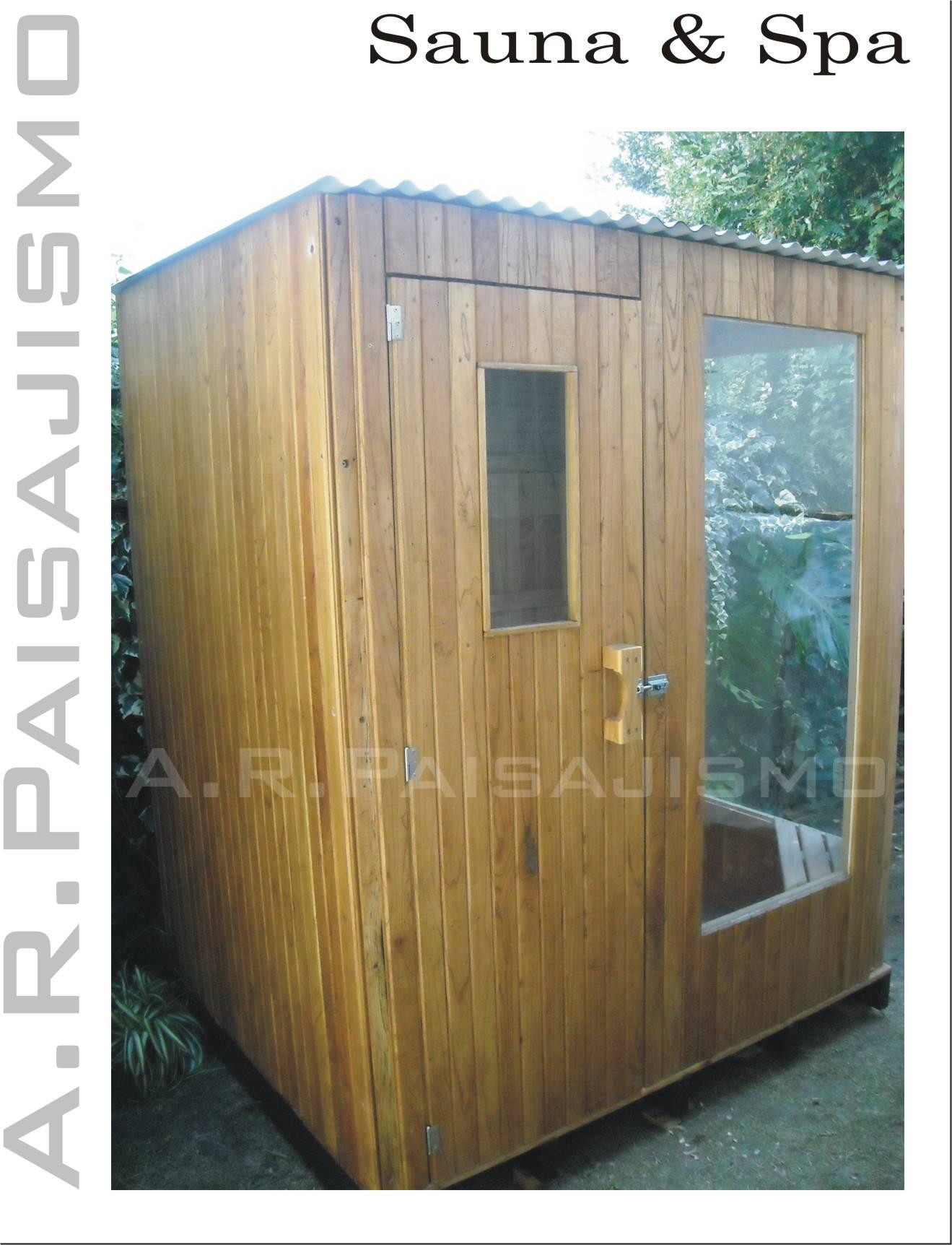 Sauna de madera azedarech paraiso spa a le a o electrico - Madera para sauna ...
