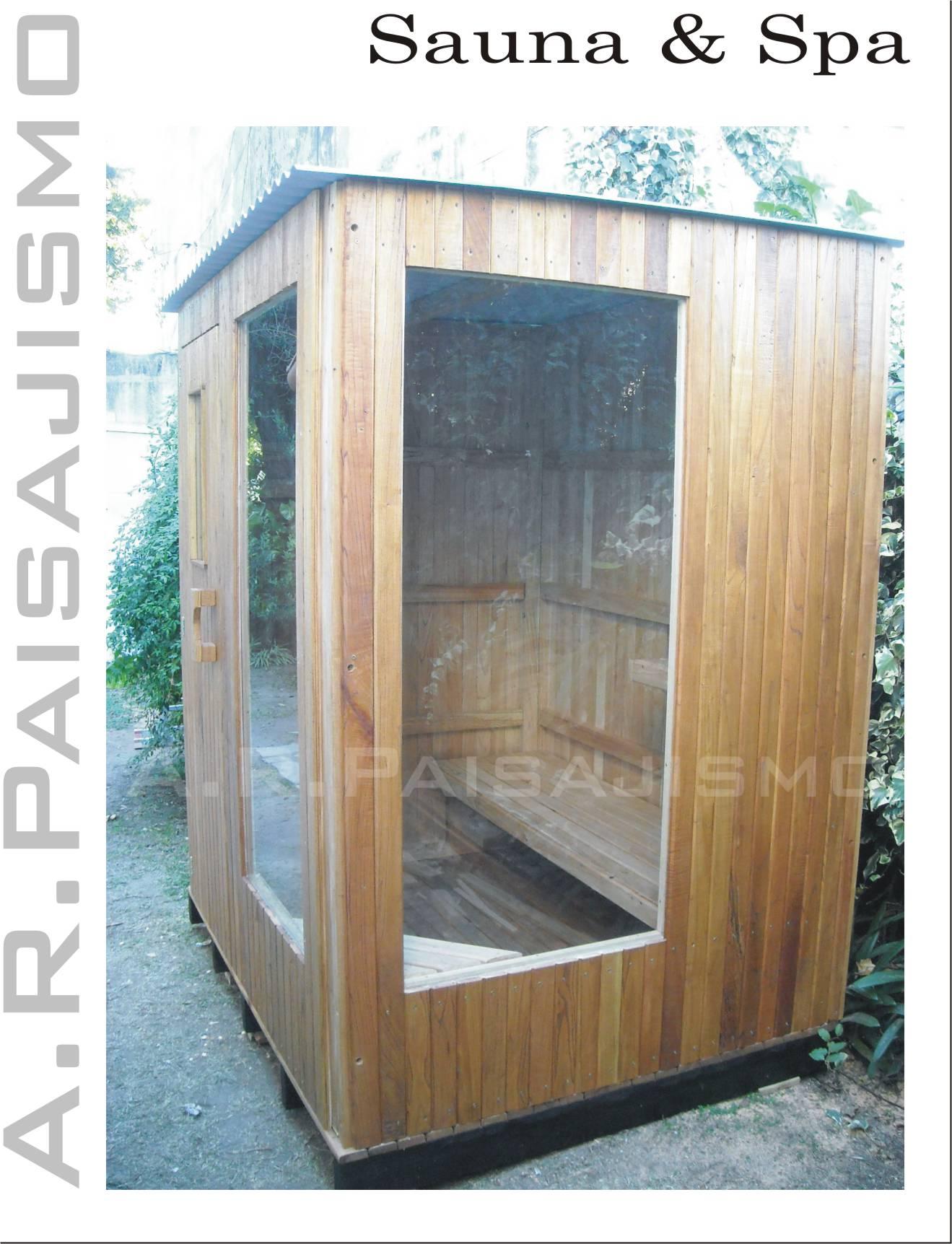 Ba o sauna seco madera artesanal para intemperie o interno - Construir una sauna ...
