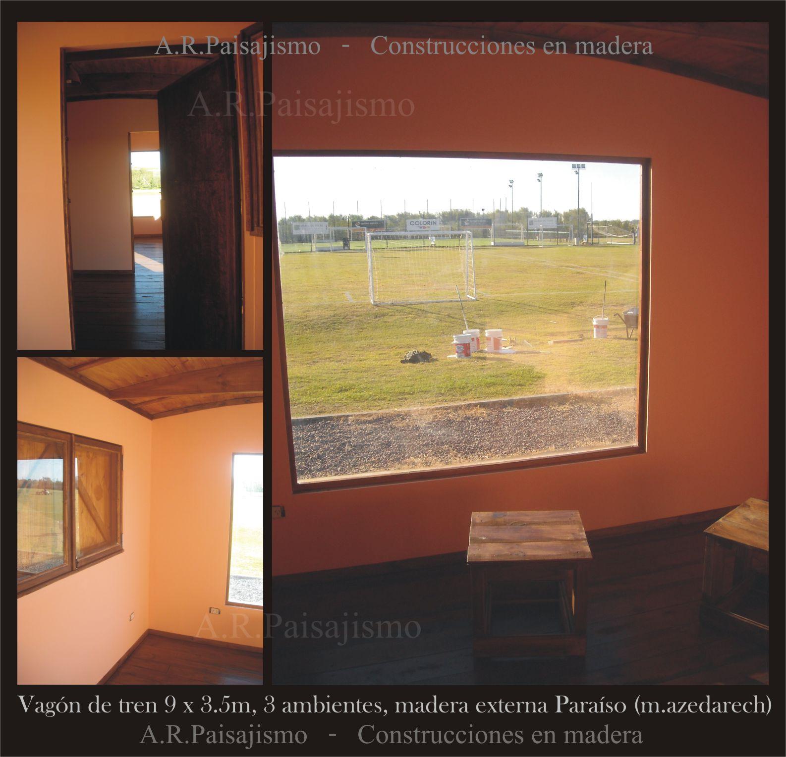 Tren De Madera Replica Vagon Tipo Deposito Solo Casco 30m2  # Muebles Alto Pehuen