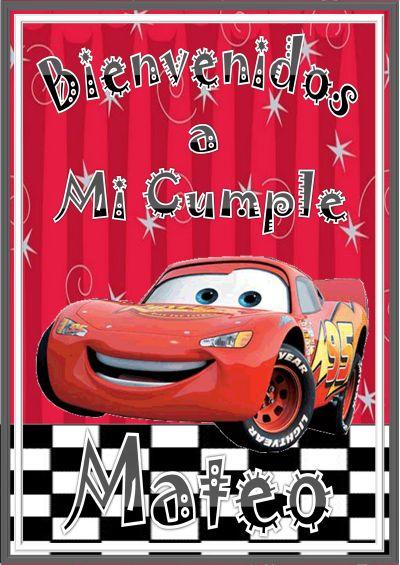 Mis Productos Aqu         Carteles Y Banderines   Cartel De Cars