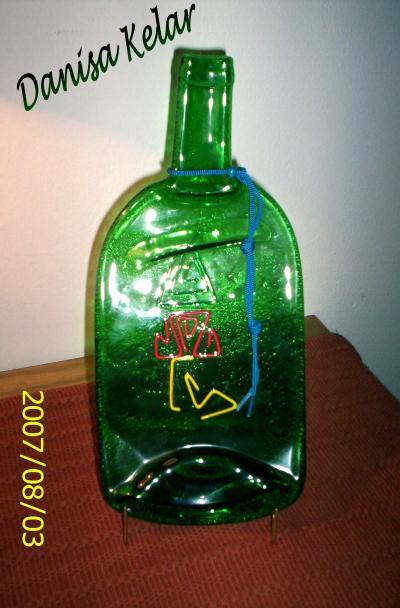 reciclar una forma de decorar con el vidrio con forma