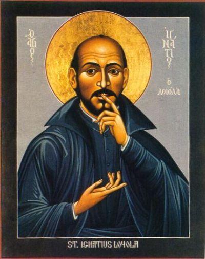 Esoterismo Jesuita - Ignacio de Loyola haciendo el Signo de Harpocrates el Horus Niño Ic