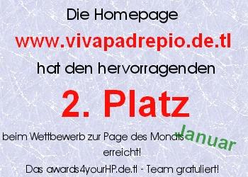 3. Platz beim Award Januar 2007 von Awards4yourHP.de.tl