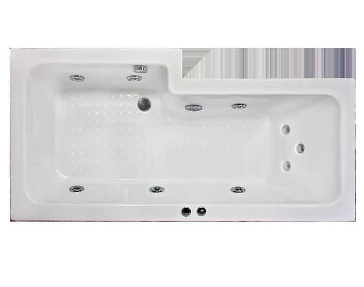 Extra Tiefe Badewanne Badeinrichtung : ... , Badeinrichtung.de. com - Badewanne Duschwanne Komfort Capri