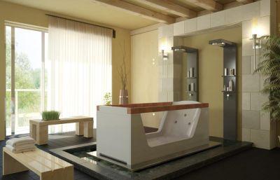 Badeinrichtung badewannen whirlpool eckbadewannen for Badeinrichtung bilder