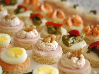 Banqueteriabz banqueteria gourmet bocadillos frios - Variedad de canapes frios ...