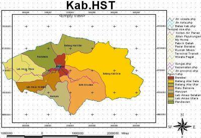 Peta Kabupaten Hulu Sungai Tengah, Barabai | Murakatabjb's ...