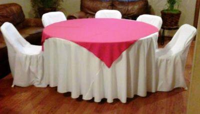Brincolinas mi alegria mesas y sillas for Mesas redondas plegables para eventos