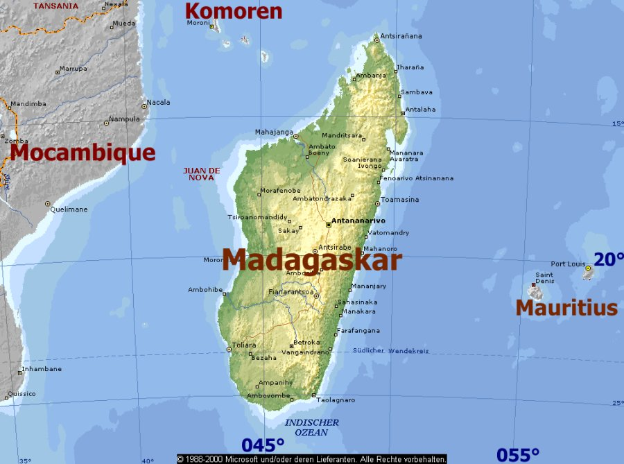 Map Of Reunion Island And Mauritius