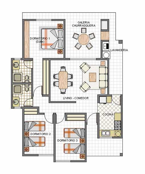 Casas en bolivia modelo toborochi for Modelos de oficinas en casa