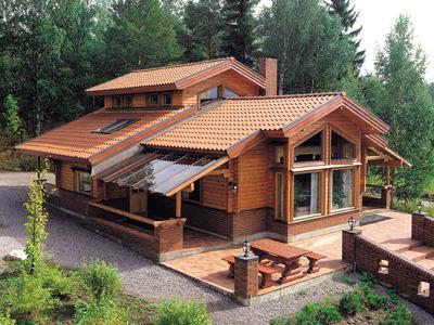Caba as de madera los troncos casas de madera - Cabanas de madera los pinos ...