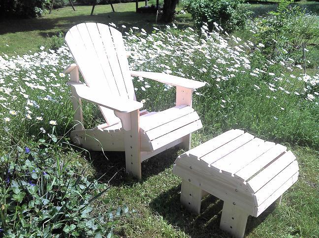 chair und mehr adirondack chair holz gartenstuhl. Black Bedroom Furniture Sets. Home Design Ideas
