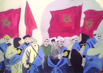 أعمال فنية للتلاميذ حول المسيرة الخضراء Img0353a