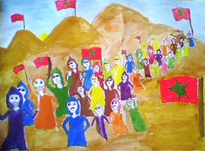 أعمال فنية للتلاميذ حول المسيرة الخضراء Img0357a