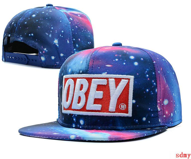 Obey Galaxy Snapback Hats