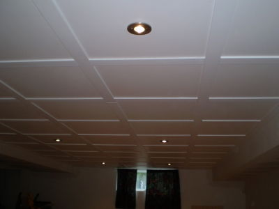 Construction s g plafond suspendu for Plafond salle de bain moisi