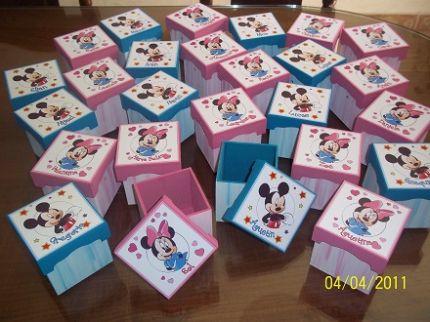 ... Giselle - - Mis Trabajos entregados - Cajas souvenirs Minnie Mickey