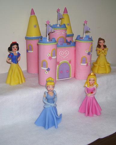 Castillo y Princesas Disney - AT074 / AT075
