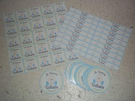 Etiquetas Para Golosinas Personalizadas Para Bautismo