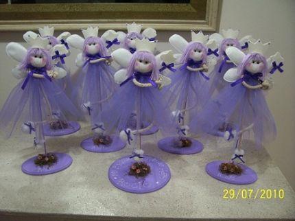 Centros de mesa de hadas para bautizo - Imagui