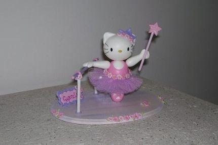 Creaciones Giselle - - Adornos para Tortas - Hello Kitty Bailarina ...