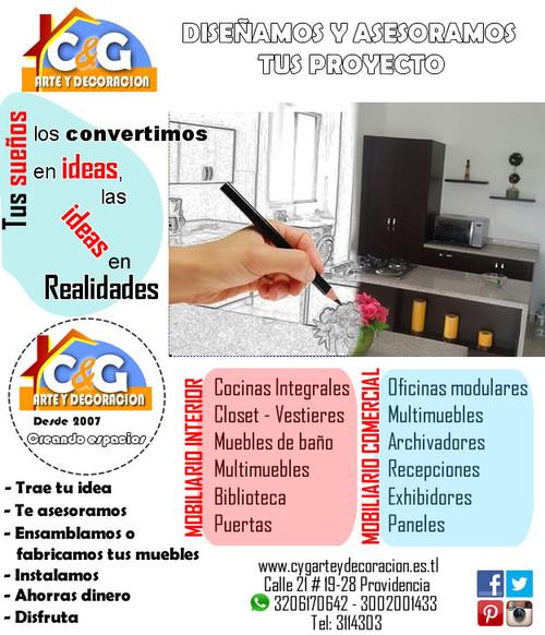 Cygarteydecoracion inicio for Cocinas integrales pereira