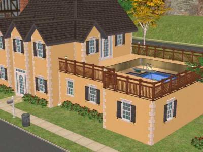 Sims2 maklerteam dachpool for Sims 4 dach bauen