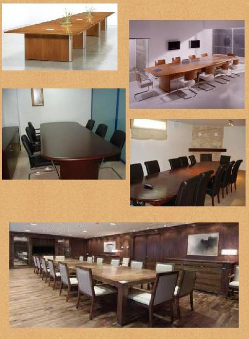 Mesas para sala de reuniones for Mesa de reuniones
