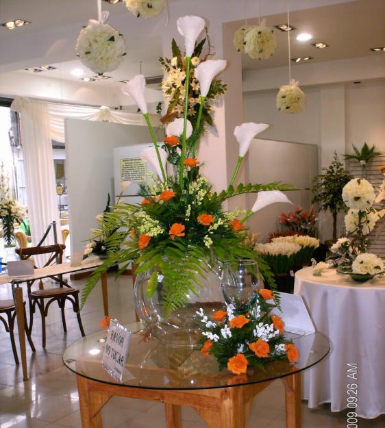 Centros de mesa con flores imagui for Centros de mesa artificiales