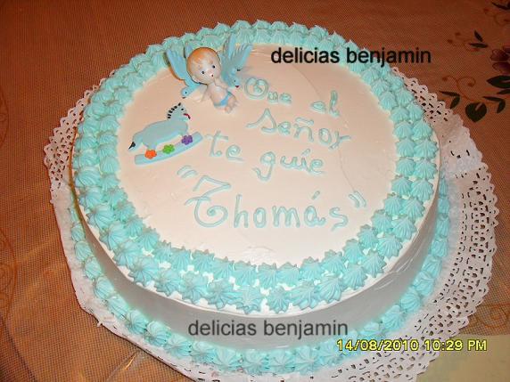 Torta de bautizo de varon - Imagui