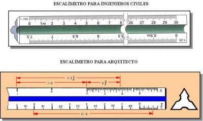 En este curso utilizaremos un escalímetro con las siguientes escalas: