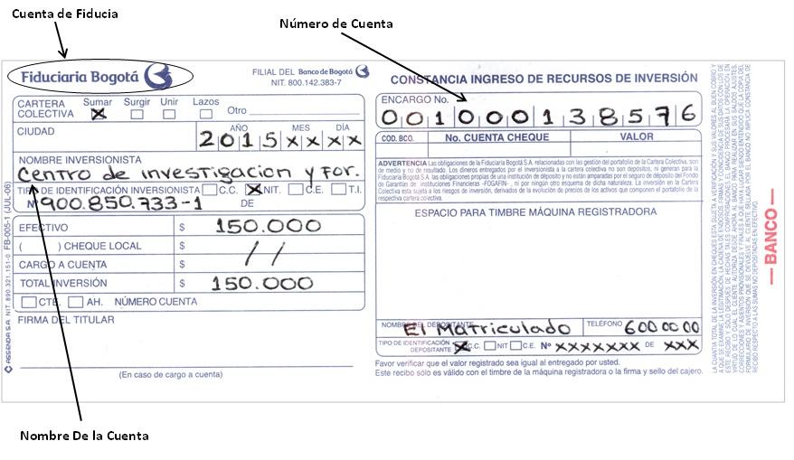 Diplomadosonline pago de inscripci n for Numero del banco exterior