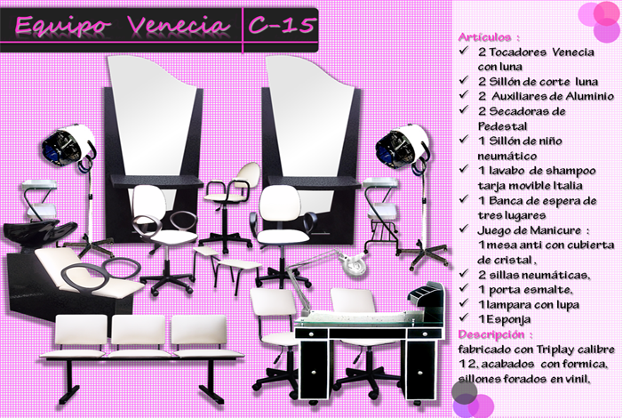 Muebles salones de belleza - ver gratis