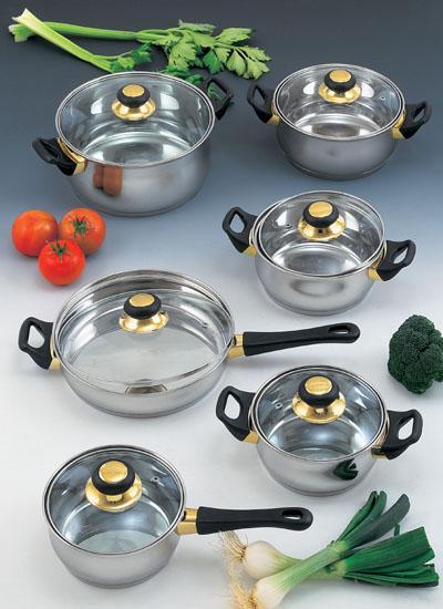 Menaje y hogar baterias de cocina for Pilas de cocina