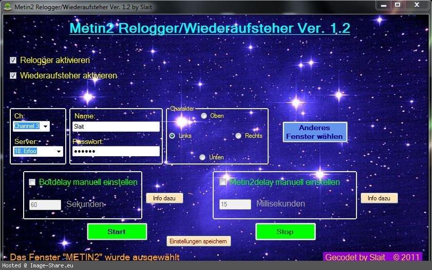 Metin2 Relogger Ve Wiederaufsteher 1.2 indir